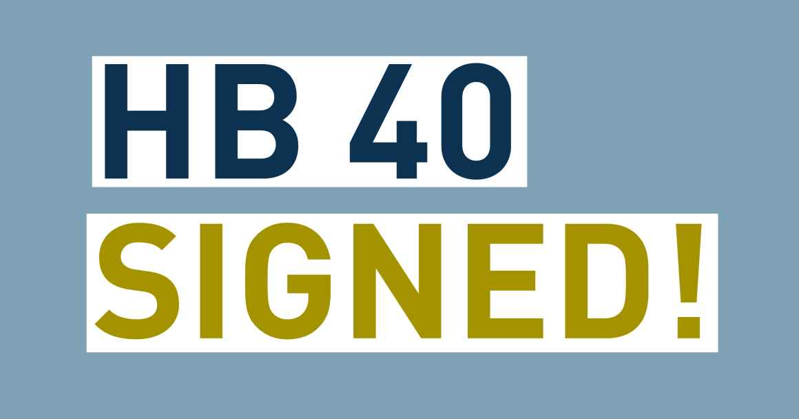 HB 40 Signed